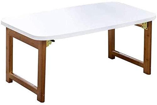 Escritorio de Ordenador Blanco, Escritorio para computadora portátil Cama Plegable Dormitorio Perezoso pequeña Mesa Simple Multiuso