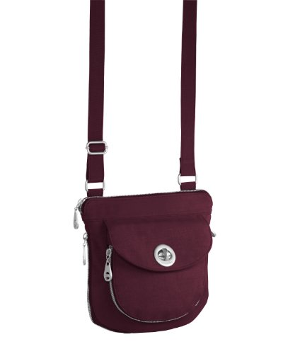 Baggallini Luggage Amsterdam Crossbody Bag, Mulberry, One Size