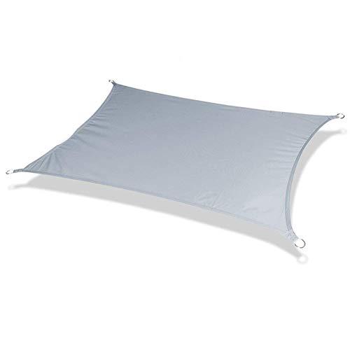 Toldo rectangular de poliéster impermeable para jardín, terraza, natación, camping, senderismo, patio, vela Z-30862E1X0T (color: verde claro, tamaño: 4 x 5 m)