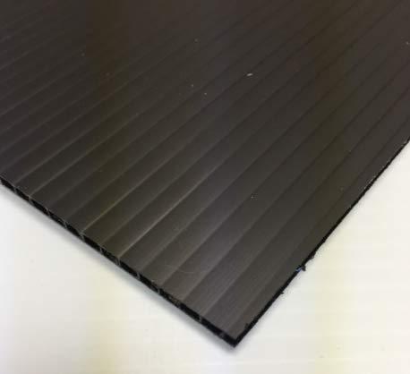 "(4 Pack) Corrugated Plastic Coroplast Sheets Sign 4mm Black 48"" x 24"""
