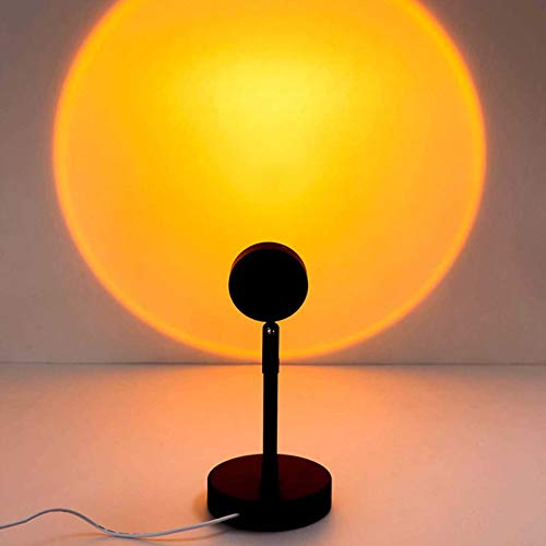 Sunset Projection Led Light, Rainbow Floor Stand Modern Lamp Night Light with USB Charging, Rotatable Colorful Projection Lamp, for Bar Party Living Room Bedroom Projector Gift (Sunset)