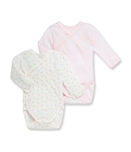 Petit Bateau - Body para bebé (2 unidades) Rosa (Special Lot 00). 68 cm