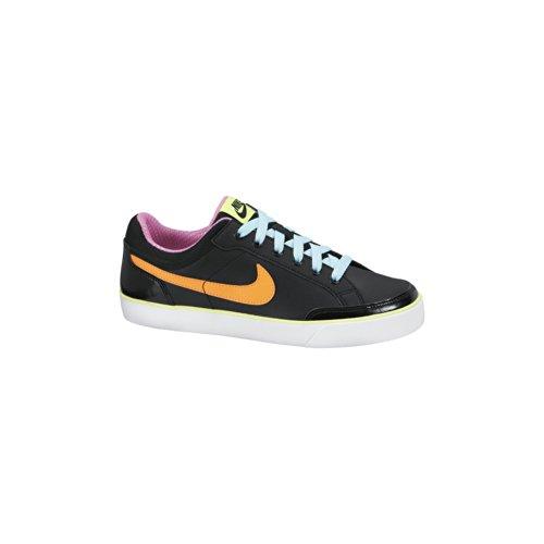 Nike Capri 3 Ltr (Gs) 579951-004 Mädchen Sneaker Schwarz (Black/Atmc Orng-Glcr Ic-Vlt Ic) 35.5