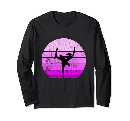 Bailarina Ballet Bailarina Retro Puesta de Sol Danza Artística Chica Manga Larga