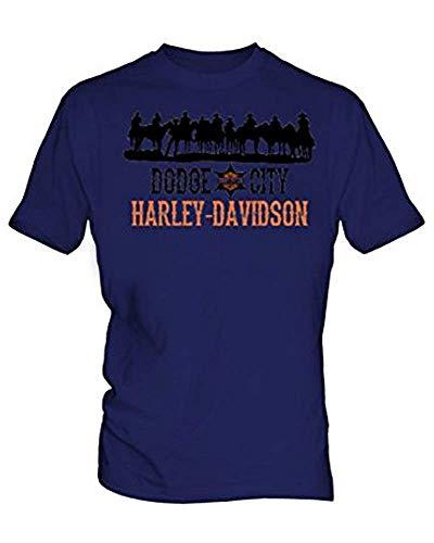 Harley Davidson 7 T-shirt voor heren Blauw