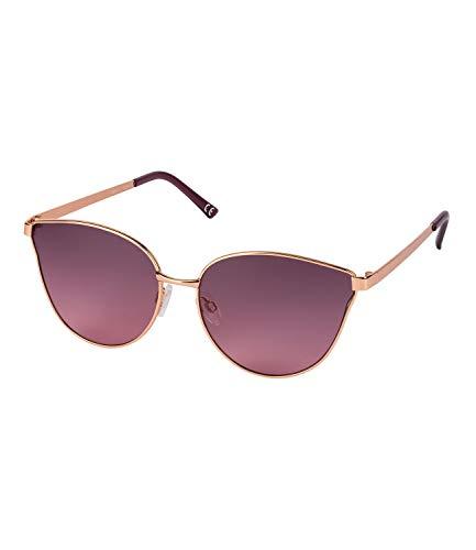 SIX Damen Sonnenbrille, Cat Eye, Metallgestell, UV400, rosé-gold, lila (324-538)