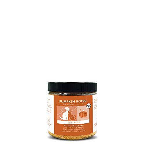 kin+kind Organic Pumpkin Boost Digestion Pet Supplement - Stomach and...