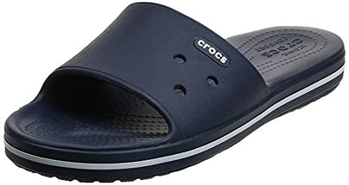 Crocs Crocband III Slide, Zoccoli Unisex-Adulto, Bianco (Marine/Blanc 462), 45/46 EU