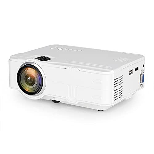 Mini proyector, proyector de 1080p y 100 '' Pantalla, proyector de películas portátiles con 40,000 hrs LED Life Life, altavoz de alta fidelidad incorporado, cine en casa con interfaz AV de TV USB HDMI