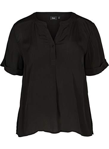 Zizzi Sille Camicia, Nero (Black 199), 48 (Taglia Unica: S 42/44) Donna