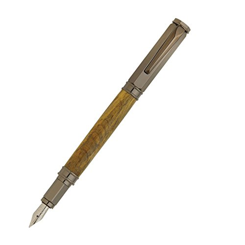Penn State Industries PKFP5110 Magnetic Vertex Fountain Pen Kit Woodturning Project (1, Gun Metal)