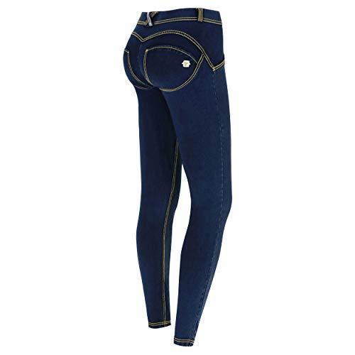 Freddy Damen Wrup1rc008 Hose, Blau (Jeans Scuro/Cuciture Gialle J0Y), 34 (Herstellergröße: X-Small)