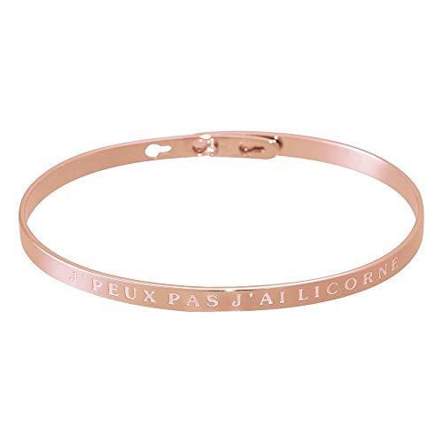 Mes-bijoux.fr armband van messing rosé – J'peux pas J'Ai eenhoorn
