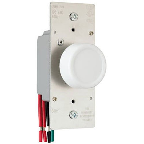 Legrand-Pass & Seymour R603PLTKV 600-watt Preset Dimmer Rfi Protected Lighted Three Way Three Color Plate Included