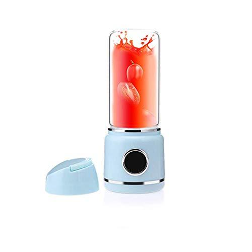 Barir USB Elektrische Sicherheit Juicer Cup, Fruchtsaftmischer, Mini Portable Aufladbar/Juicing Mischen Crush Ice Mixer Mixer (pink, Blau) (Color : Blue)