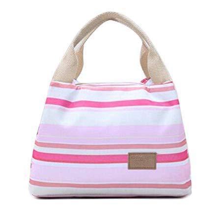 Ztoma Frühstückstasche, 1 Stück Damen Tragetasche, Isoliert Lunchbox Wasserfest Thermo Lunch Tasche Weich Auslaufsicher Liner Lunch Taschen für Damen - Rosa