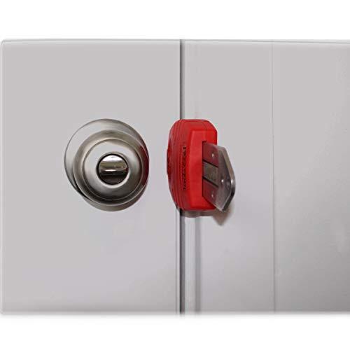 Portable Door Lock, Travel Door Lock, Hotel Motel Door Lock, Door Jammer, Apartment Security, Door Barricade, Bedroom Door Lock, Door Security Device, Porta-Lock by ToolsGold