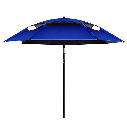 Macro Paraguas de Pesca, 16 Huesos, Fibra de Carbono Ligero, Tela de Oxford, Paraguas Universal 360 °, protección Solar, Anti-UV, Paraguas de Playa al Aire Libre
