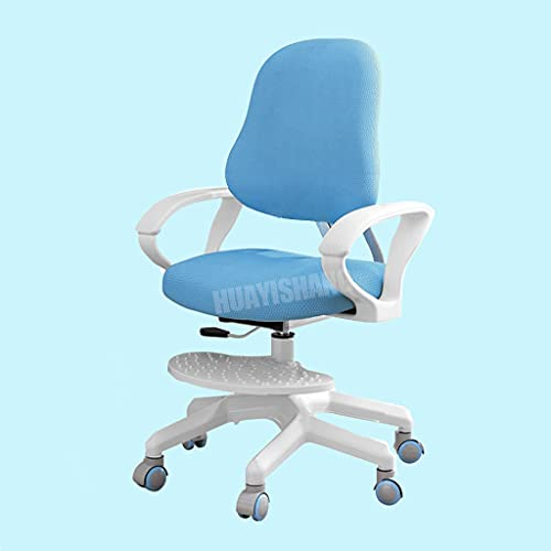 Ergonomic Kids Desk Chair Adjustable Children Study Chair | Toddler Computer Chair Comfy Chair with Arm/Adjustable Height and Seat Depth/Detachable Footrest for Growing Child (Blue- Chair)