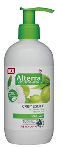 Cremeseife Baumwolle & Bio-Olive - Zertifizierte Naturkosmetik - mit Bio-Fair-Trade Rohrzucker, vegan - (1 x 300 ml)