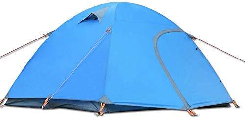 NDYD 2-3 Personas Tienda de campaña campesas al Aire Libre suministra el toldo de la Sombra Impermeable para el montañismo del Senderismo DSB (Color : Blue)