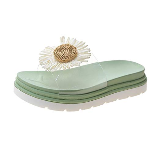 Zoccoli Infradito Clogs Ciabatte Sandali Sandal Sandali Ciabatte Scarpe da Bagno Pantofole (35,Verde)