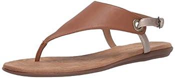Aerosoles Women s Thong Sandal Flip-Flop TAN Combo 6 B  M