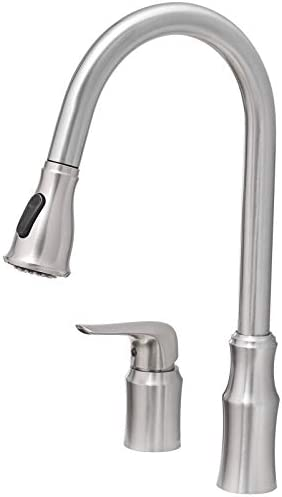 Kitchen Sink Faucet with Pull Down Sprayer FYRLLEU Commercial Single Handle Kitchen Faucets product image