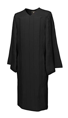 College Fashion - Doktorhüte,Talare, Accessoires Talar MATT, schwarz, Größe M
