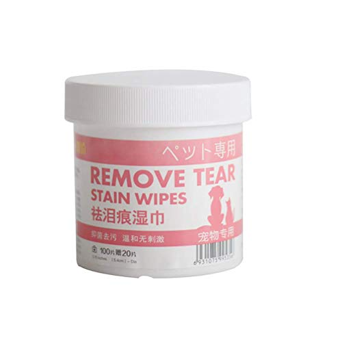 Ububiko Care Wipes Toallitas desodorantes para Perros Almohadillas para Limpieza de Ojos Toallitas de Limpieza para