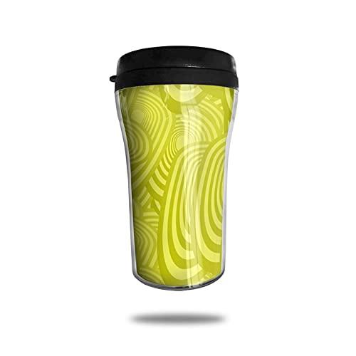 Amarillo Oval Elipse Huevo Elíptico Tazas De Café Taza De Viaje Calentador De La Taza De La Taza Del Calentador Del Vaso Personalizar La Botella De Agua De Arte Tazas De Café Con Tapas 250ml