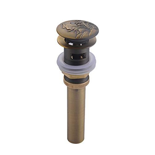 Spüle Stecker Spüle Entwässerung Rückflussschutz Universal-Abfluss-Aufstellventil, europäisches Abflusssystem für Waschbecken/Waschbecken aus geprägtem Kupfer Geeignet für Toilettenspülbodenrohre