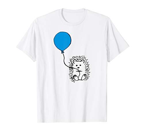 Igel mit blauen Ballon-Shirt - Geschenk T-Shirt tshirt
