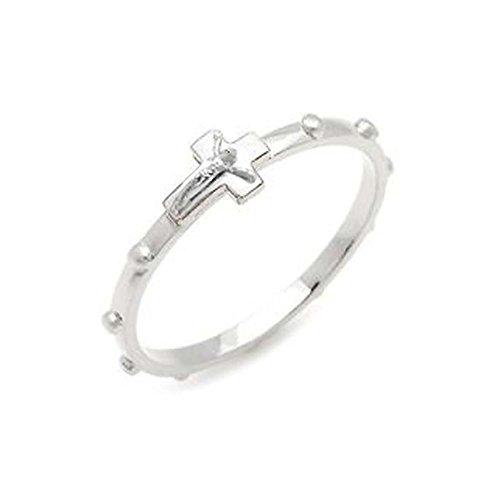 Catholic- Unisex Rosary Ring with Crucifix Stainless Steel (9.0)