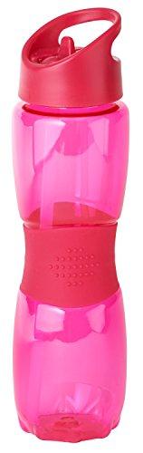 Thermo Rex Trinkflasche Grip | 800ml | rot | BPA-freier Kunststoff | nahezu bruchsicher u wiederverwendbar | mit integriertem Strohhalm | Wasserflasche