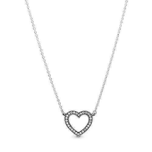Pandora Collar con colgante Mujer plata - 590534CZ-45