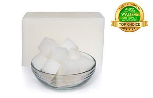 Premium White Glycerin Soap Base by Velona | Melt & Pour All Natural Bar for The Best Result | Size: 2 lb