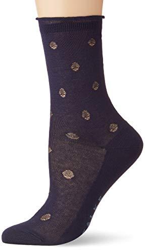 FALKE Damen Socken Prestige Dot - 80% Baumwolle, 1 Paar, Blau (Midnight 6414), Größe: 41-42