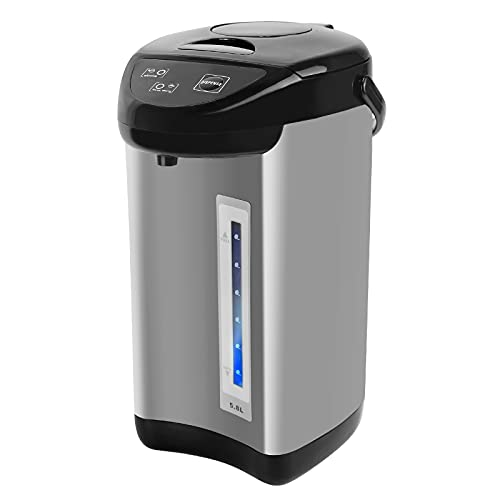 Xverycan Electric Water Boiler and Warmer, 5.8 Liter Hot Water Dispenser, Stainless Steel Liner, Black