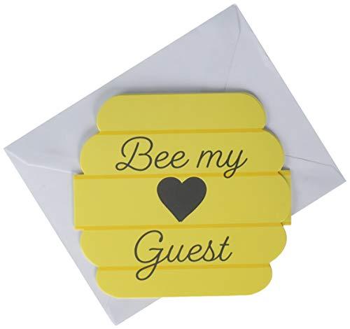 Creative Converting 340143 Bumblebee - Invitaciones para bebés, papel, multicolor