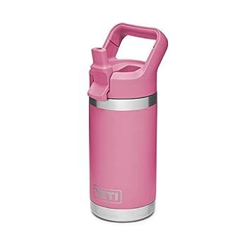 YETI Rambler Jr 12 oz Kids Bottle with Straw Cap Harbor Pink