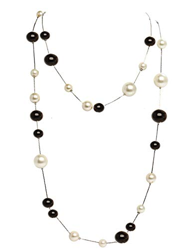 Fashion Jewelry MISASHA Bridal and Chic Long Imitation Pearl Ball Strand Necklace