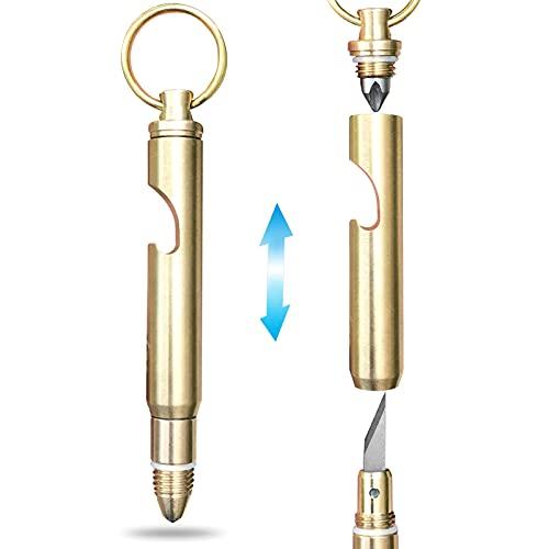 5 in 1 Multitool - Self Defense Keychain for Ladies Women - Pocket Utility Knife Mini Box Cutter -...