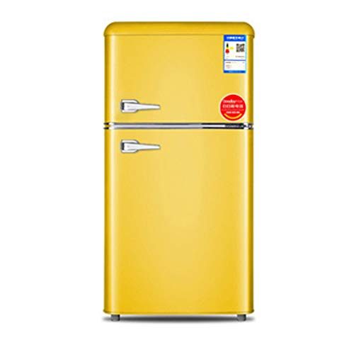 frigorifero Doppia Porta, 118L, Silenzioso Risparmio energetico, refrigerazione e conservazione, 45x45x90cm