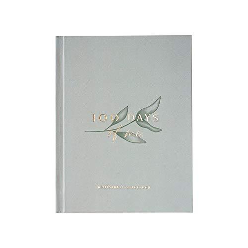 JO & JUDY Achtsamkeitstagebuch '100 days of me' - Mindfulness Tagebuch mit Goldfolienprägung - 12,2 cm x 16,4 cm - 108 Seiten