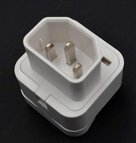 1pcs UK to EU plug travel adapter plug univeral type AC power switch converter 10A 3pin - (Color: White)