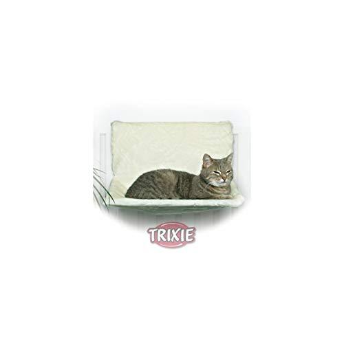 Trixie 4321 De Luxe - Amaca in peluche, 45 x 24 x 31 cm, colore: Bianco