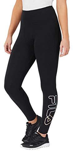 Fila Womens Cotton Leggings (Black, Large)