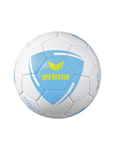 Erima Unisex Jugend Future Grip Kids Handball, weiß/Curacao/neon gelb, 0
