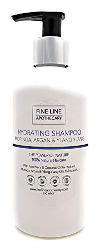 Naturale - SHAMPOO IDRATANTE - ALOE VERA, MORINGA, ARGAN & YLANG YLANG - 250 ml - da Fine Line Apothecary - Senza Solfati, Senza Parabeni, Senza Silicone....